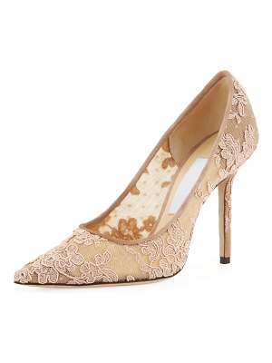Jimmy Choo Love Lace Pointed Pumps