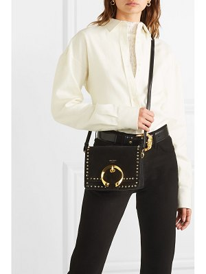 Jimmy Choo madeline small studded suede shoulder bag