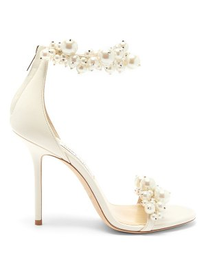 Jimmy Choo maisel 100 faux pearl-embellished leather sandals