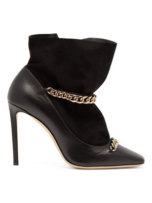 Jimmy Choo maruxa 100 chain strap leather ankle boots