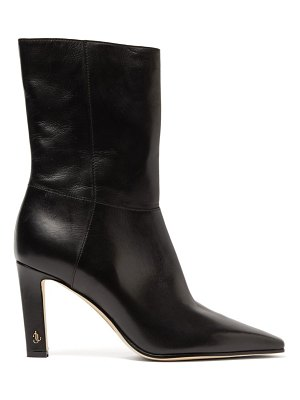 Jimmy Choo merle 100 leather ankle boots