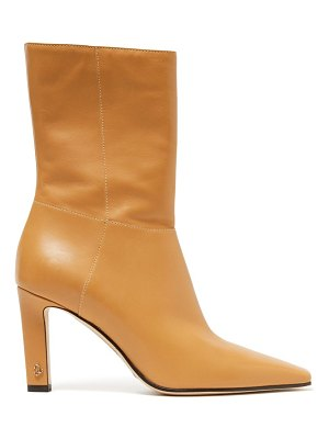 Jimmy Choo merle 100 square-toe leather ankle boots