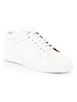 Jimmy Choo miami leather low-top sneakers