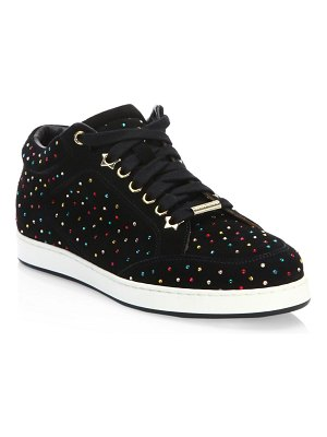 Jimmy Choo Miami Scattered Suede Sneakers