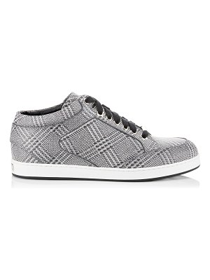 Jimmy Choo MIAMI Silver Prince of Stars Glitter Sneakers
