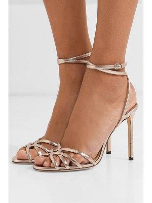Jimmy Choo mimi 100 metallic leather sandals