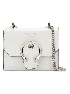 Jimmy Choo Mini paris croc embossed leather bag