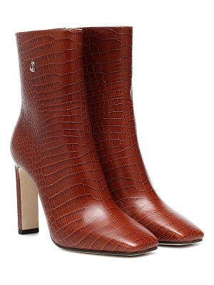 Jimmy Choo minori 100 mock-croc leather boots