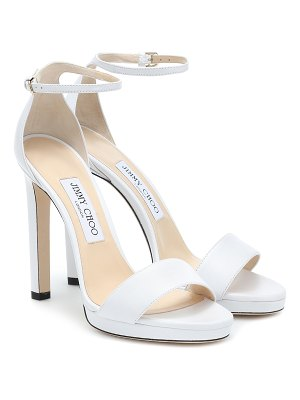 0e571301879a Lang Silver Liquid Mirror Leather Sandals · Jimmy Choo Misty 120 leather  sandals