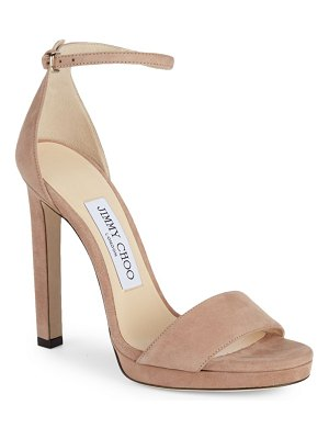 Jimmy Choo Misty Suede Ankle-Strap Sandals