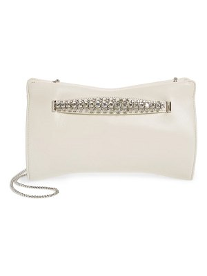 Jimmy Choo nappa leather clutch with crystal bracelet handle