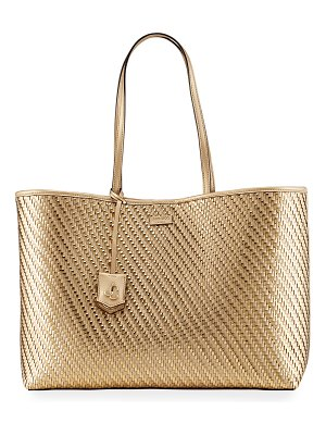 Jimmy Choo Nine2Five Woven Tote Bag
