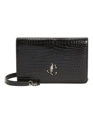 Jimmy Choo palace croc embossed leather clutch