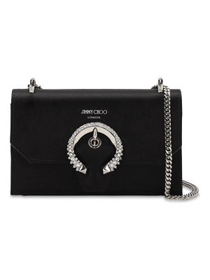 Jimmy Choo Paris silk satin bag w/ crystal buckle