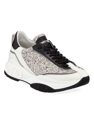 Jimmy Choo Raine Leather Trainer Sneakers