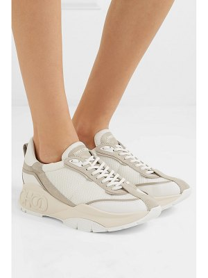 Jimmy Choo raine leather, mesh and suede sneakers