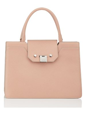 Jimmy Choo REBEL TOTE Ballet Pink Soft Grained Goat Leather Tote Bag