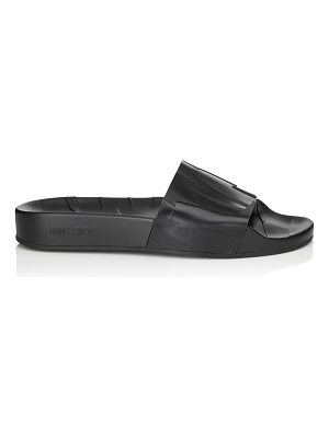 Jimmy Choo REY/F Black Rubber Slides