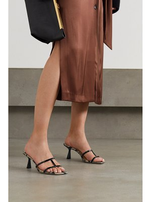 Jimmy Choo ria 65 snake-effect and patent-leather mules