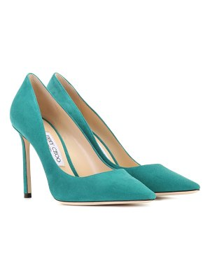 Jimmy Choo Romy 100 suede pumps