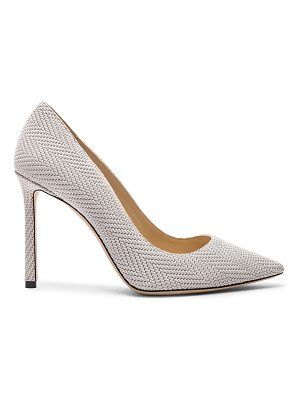 Jimmy Choo Romy 100mm Embossed Heel