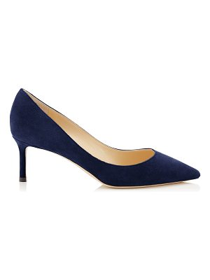 Jimmy Choo ROMY 60 Navy Suede Pointy Toe Pumps
