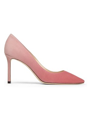 Jimmy Choo ROMY 85 Bubblegum and Blush Pink Dégradé Suede Pointed Pumps