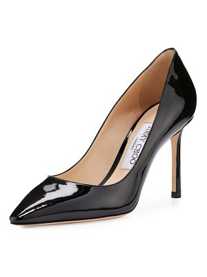 Jimmy Choo Romy Patent Pointed-Toe 85mm Pump