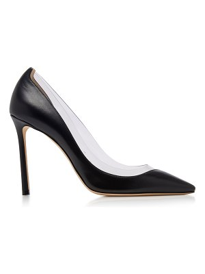 Jimmy Choo romy pvc-trimmed leather pumps