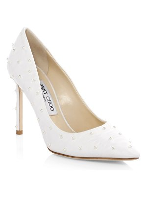 Jimmy Choo Romy Satin Point Toe Pumps