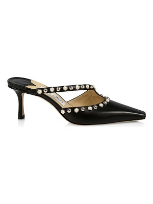 Jimmy Choo ros embellished leather mules