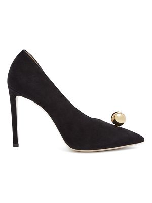 Jimmy Choo Sadira 100 oyster-pearl suede pumps