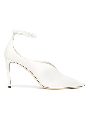 Jimmy Choo Sonia 85 leather ankle strap pumps