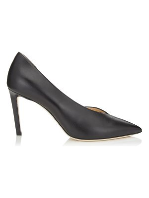 Jimmy Choo SOPHIA 85 Black Kid Leather Pointy Toe Pumps