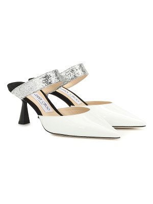 Jimmy Choo sophina 65 glitter and leather mules