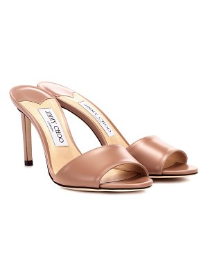Jimmy Choo Stacy 85 leather sandals