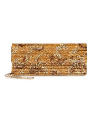 Jimmy Choo sweetie brocade & acrylic clutch