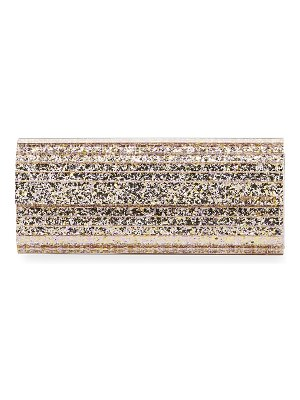 Jimmy Choo Sweetie Glittered Acrylic Clutch Bag