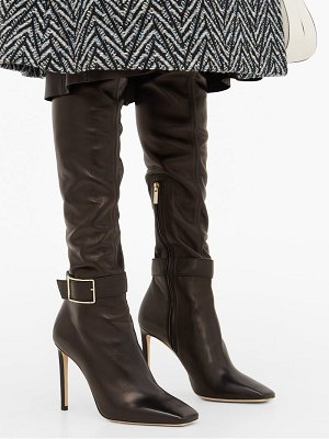 Jimmy Choo takara 100 buckled leather over the knee boots