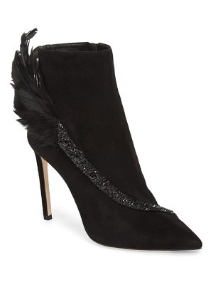 Jimmy Choo tanya crystal & feather embellished bootie