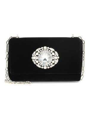 Jimmy Choo thea embellished velvet clutch