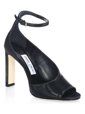 Jimmy Choo Theresa Leather Ankle-Strap Sandals