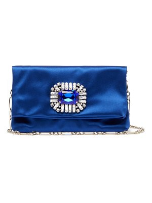 Jimmy Choo titania crystal embellished satin clutch