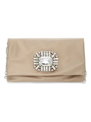 Jimmy Choo titania satin clutch