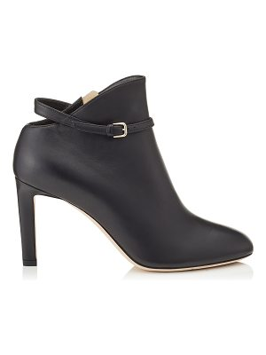 Jimmy Choo TOR 85 Black Shiny Smooth Leather Booties