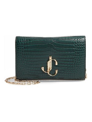 Jimmy Choo varenne croc embossed leather clutch