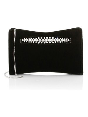 Jimmy Choo venus embellished velvet clutch