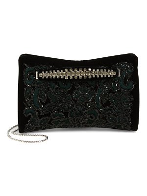 Jimmy Choo floral beaded velvet clutch