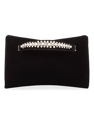 Jimmy Choo Venus Velvet and Pearly Bracelet Clutch Bag