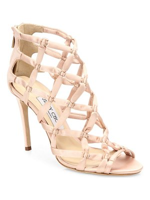 Jimmy Choo Violet Suede Lattice Sandals